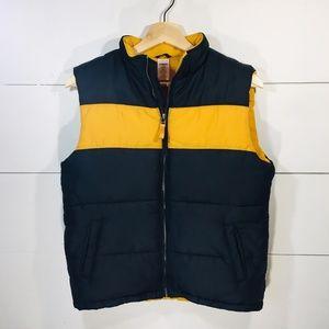 GYMBOREE Boy's Size 10 Black Yellow Puffer Vest